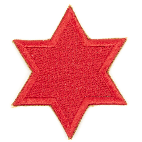 U.S. WWII 6th Infantry Division Shoulder Patch - Red Star