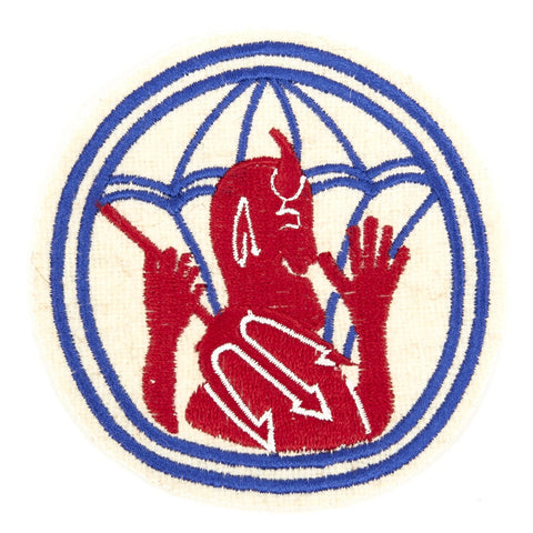 U.S. WWII 504th Parachute Infantry Regiment Shoulder Patch - Devils in Baggy Pants