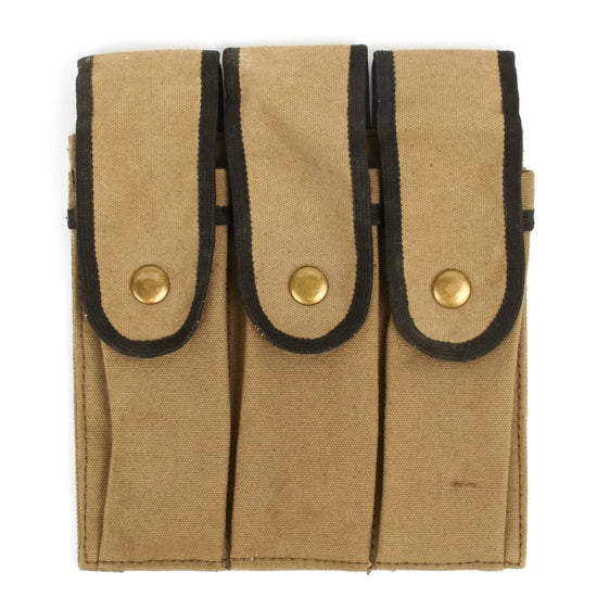 U.S. Reising Three Cell Magazine Pouch Marked U.S.M.C
