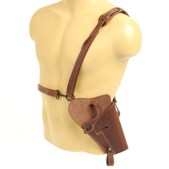 U.S. WWII 1911 .45 cal Pistol M7 Brown Leather Shoulder Holster Rig- Embossed U.S.
