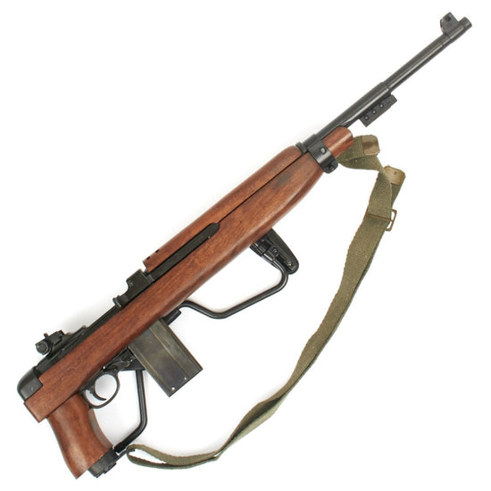 U.S. WWII M1A1 Carbine Folding Stock Paratrooper Display Gun with Bayonet Lug International Military Antiques