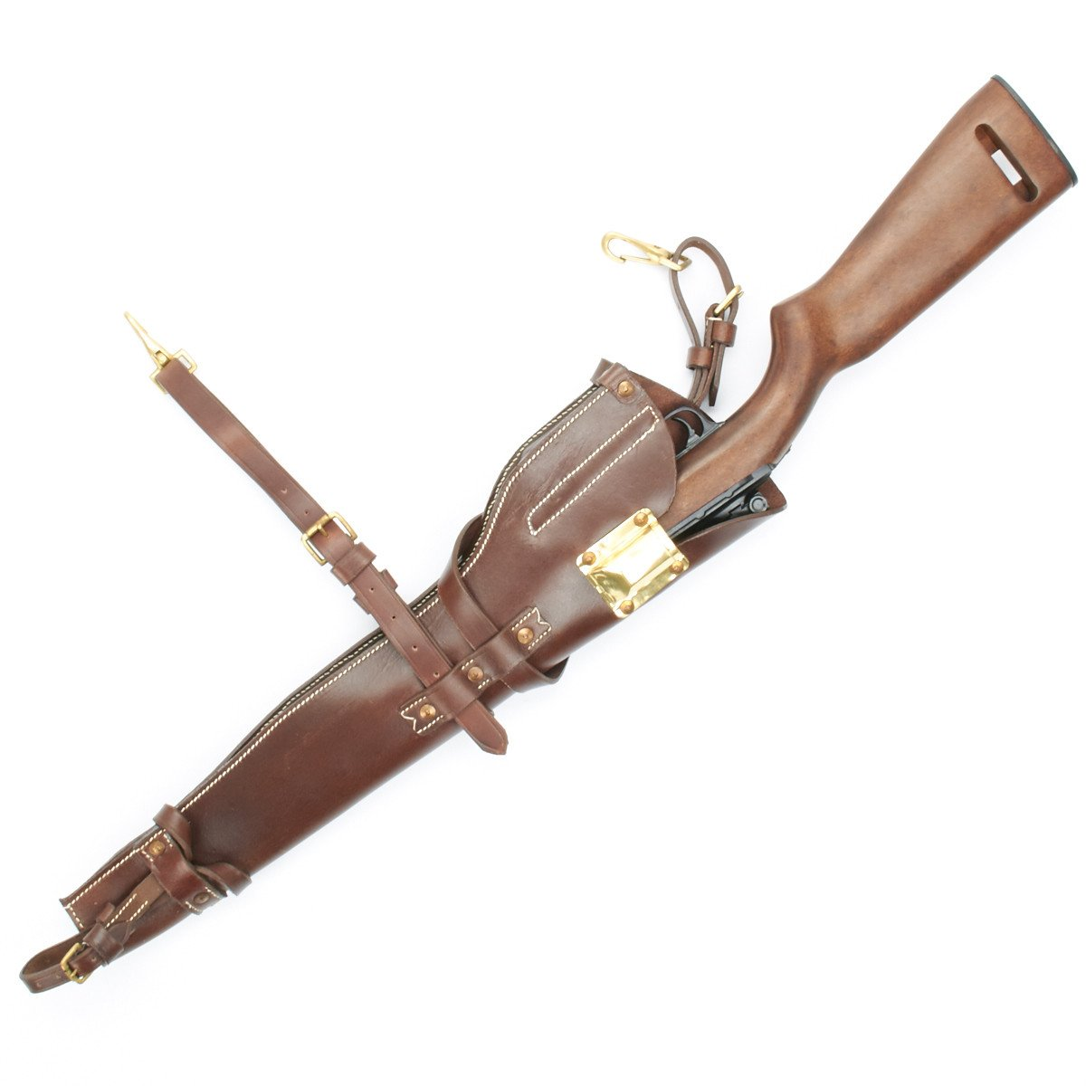 U S  WWII M1 Carbine Leather Scabbard Holster