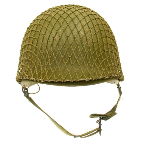 U.S. WW2 O.D. Green Helmet Net with Drawstring New Made Items
