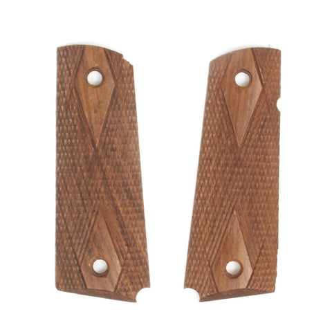 U.S. 1911 Colt Pistol Hardwood Diamond Checkered Grip Panel Set New Made Items