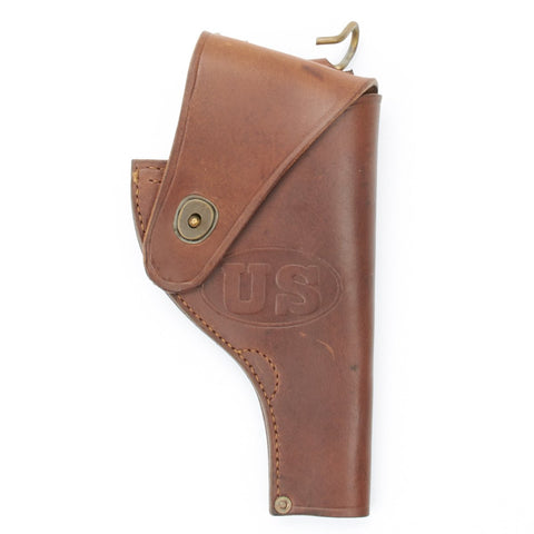 U.S. WWII Smith & Wesson .38 cal Revolver Open Top Leather Holster