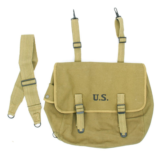 U.S. WWII M1936 Musette Bag with Shoulder Strap