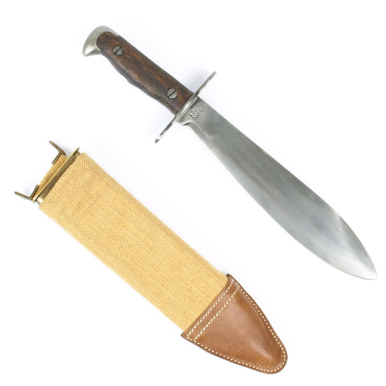 U.S. Army Model 1917 Bolo Knife with Canvas Scabbard