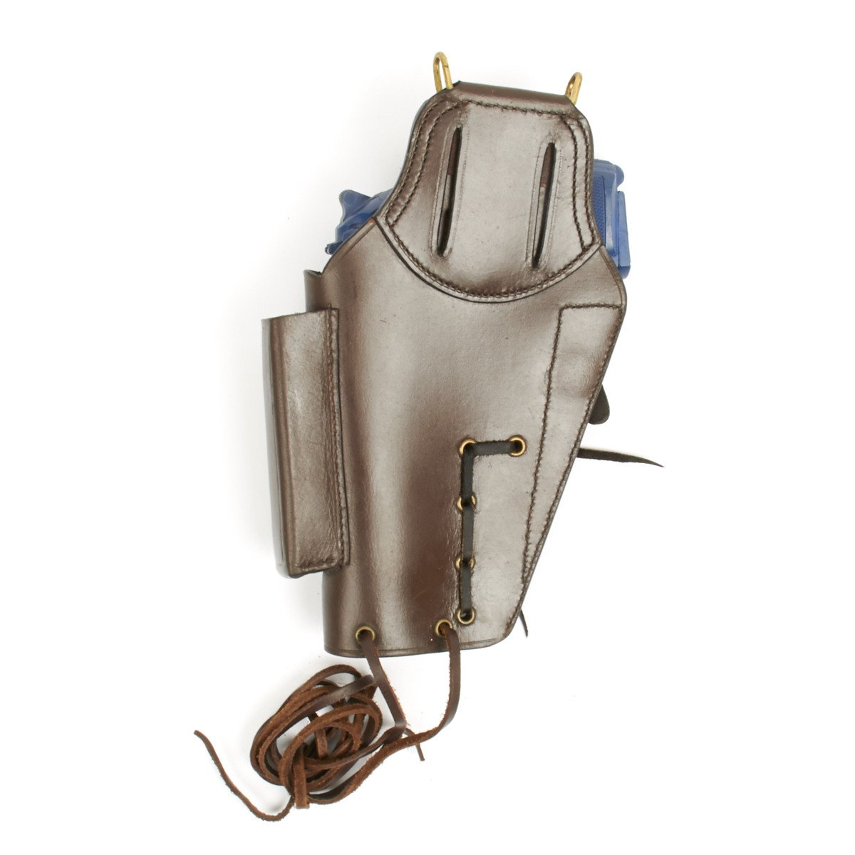 U S  Beretta 92 Model Brown Leather Hip Holster with Laser Sight