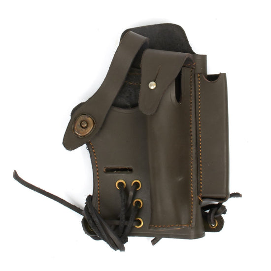 U.S. Walther P-22 Compatible Holster with Mag and Silencer Pockets- Brown Leather New Made Items