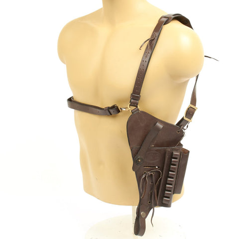 U.S. 1911 .45 cal Brown Leather Shoulder Pistol Holster with Laser Sight Option- U.S.M.C