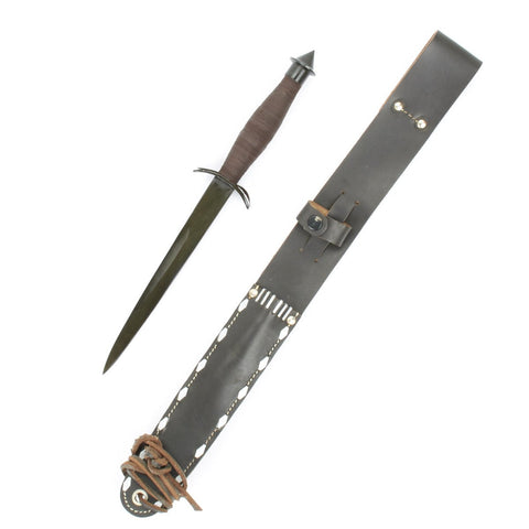 U.S. V-42 WW2 Elite Special Forces Knife with Scabbard- Economy Grade New Made Items