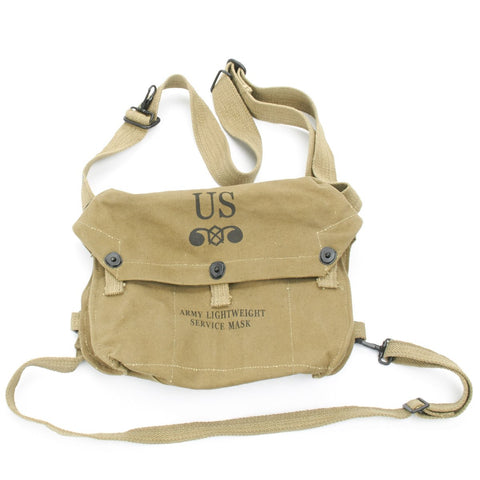U.S. WWII Lightweight Canvas Gas Mask Bag