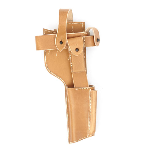 German WWI Mauser C96 Pistol Leather Harness for Shoulder Stock Holster New Made Items