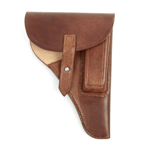 German WWII High Front Medium Size Brown Leather Holster (Fits PPK)