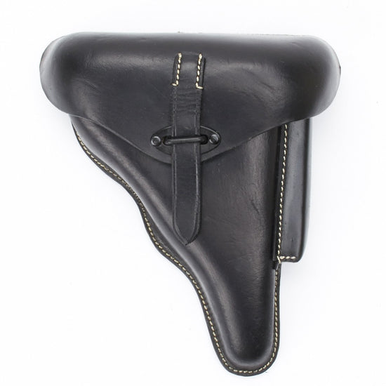 German WWII P38 Hardshell Black Leather Holster New Made Items