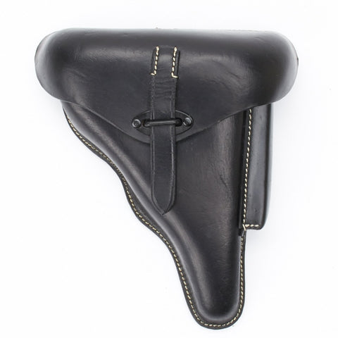 German WWII P38 Hardshell Black Leather Holster