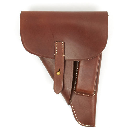 German WWII P-38 Softshell Brown Leather Holster P38
