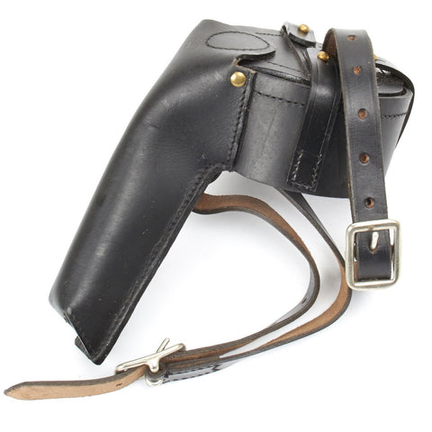 German WWI M-1916 Luger Snail Drum Black Leather Carrier