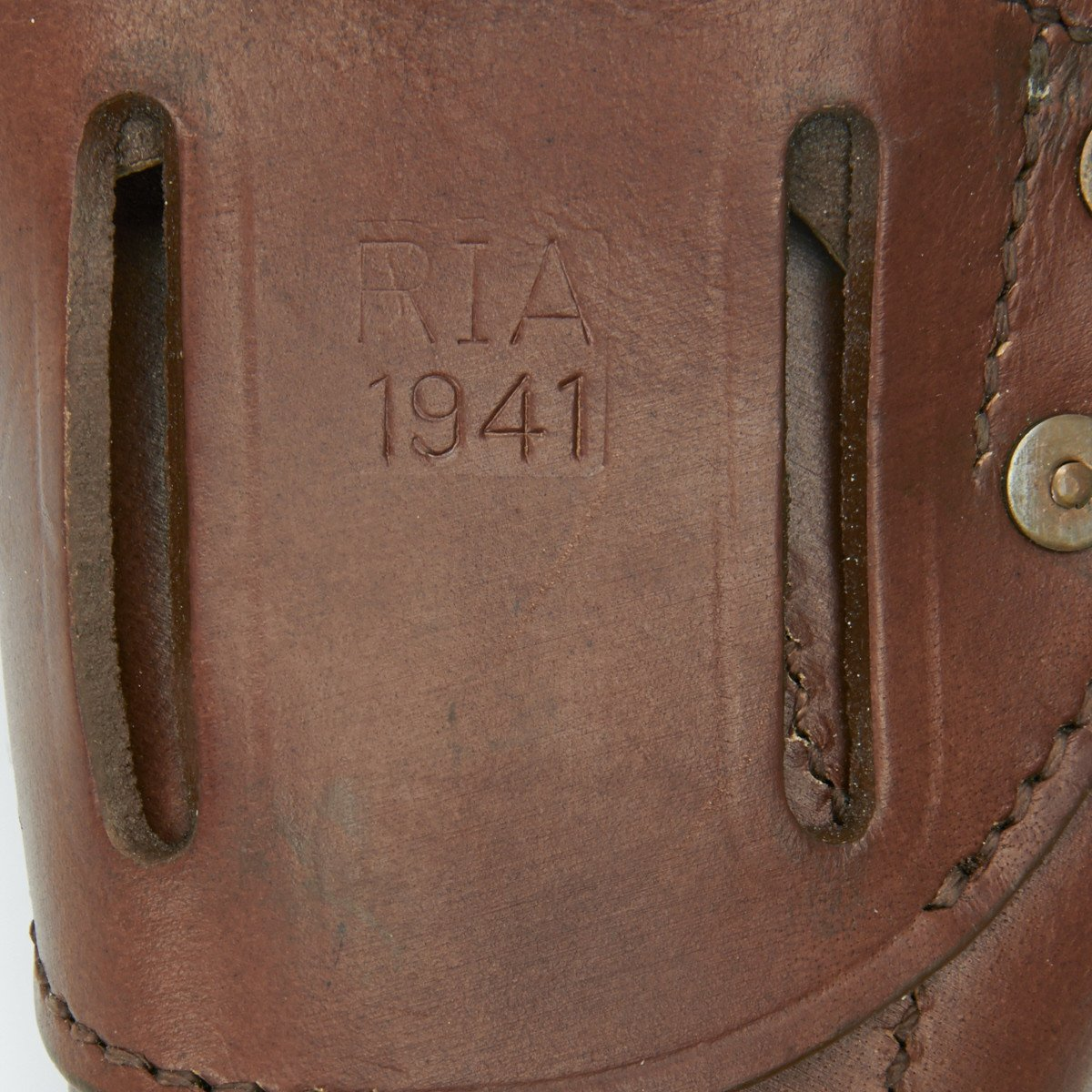 U S  WWII M1916 1911  45 cal Brown Leather Hip Holster