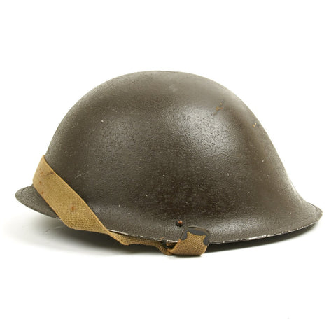 Original British WWII P-1944 Turtle MK IV Steel Helmet- Dated 1945