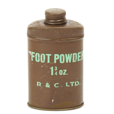 Original WWII British Army Foot Powder- Unissued