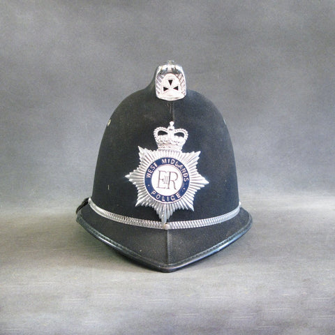 Original British Bobby Police Comb Pattern Helmet- West Midlands