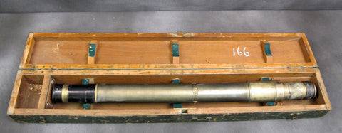 British WWI Gun Sighting Brass Telescope No. 7 Mark I: Dated 1916