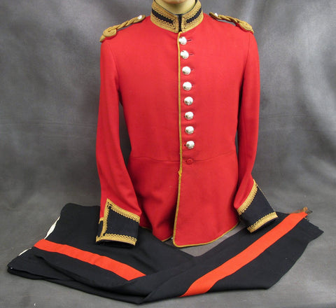 British Life Guard Bandsman Red Tunic and Blue Coverall Uniform Set