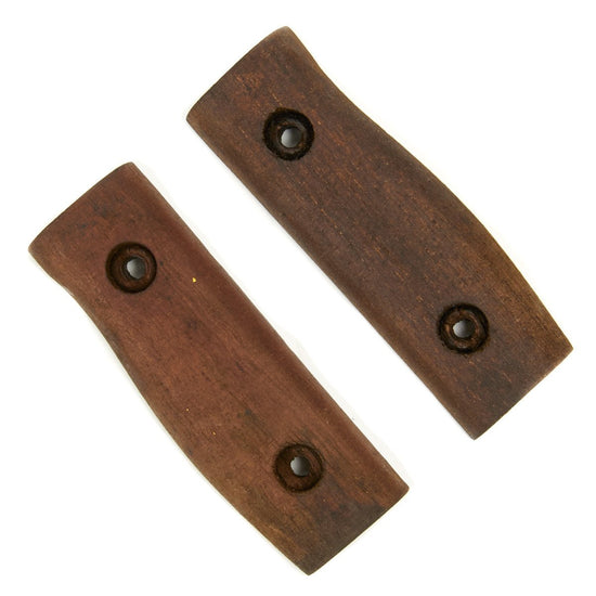 British P1907 Enfield Bayonet Wood Grip Panels with Broad Arrow Original Items