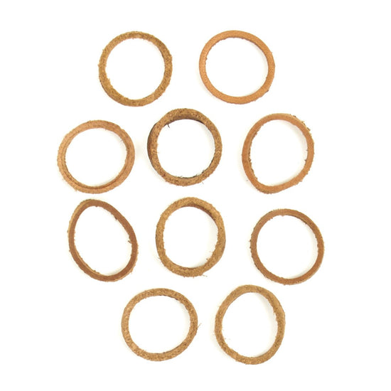 British Leather Gaskets For Rifle Butt Stock Oilers - Set of 10