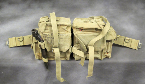 South African Defense Force P70 Butt Pack and Waist Belt Assembly