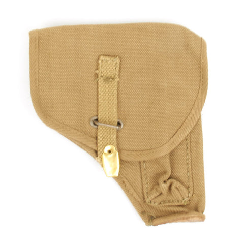 Original WWII British Pattern 1937 7.65mm Tan Web Pistol Holster Original Items