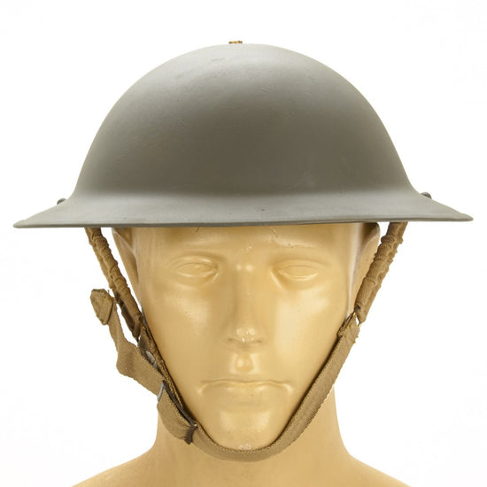Original British WWII Brodie Steel Helmet- WW2 Dated (OD Green)