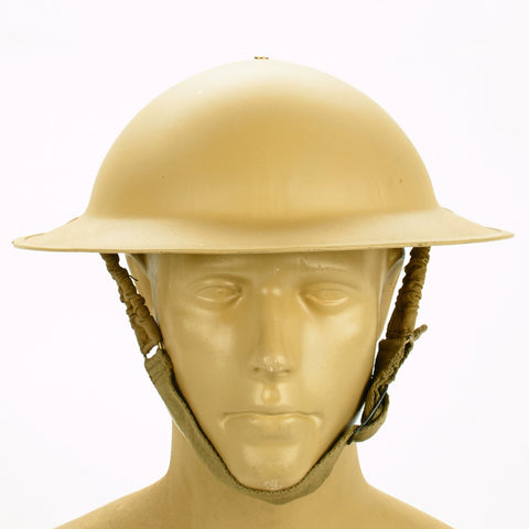 British Brodie Steel Helmet: WW2 Dated (Desert Tan) Original Items
