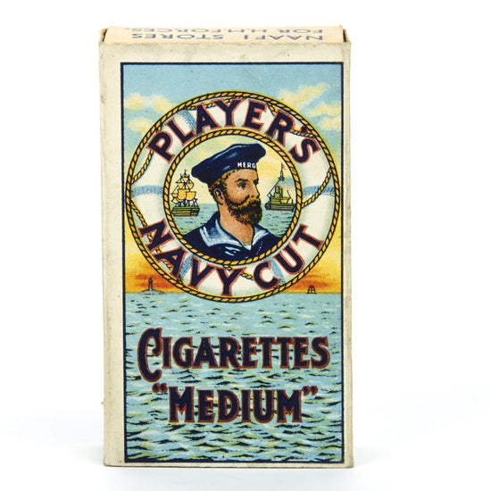 Original WWII British Navy Cut Cigarette Pack- Unissued