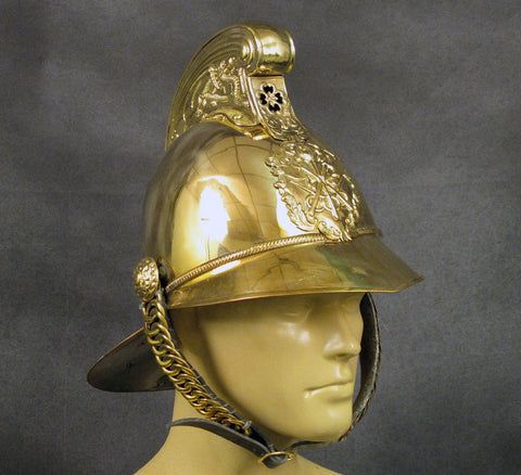 British Brass Merryweather Parade Fire Helmet