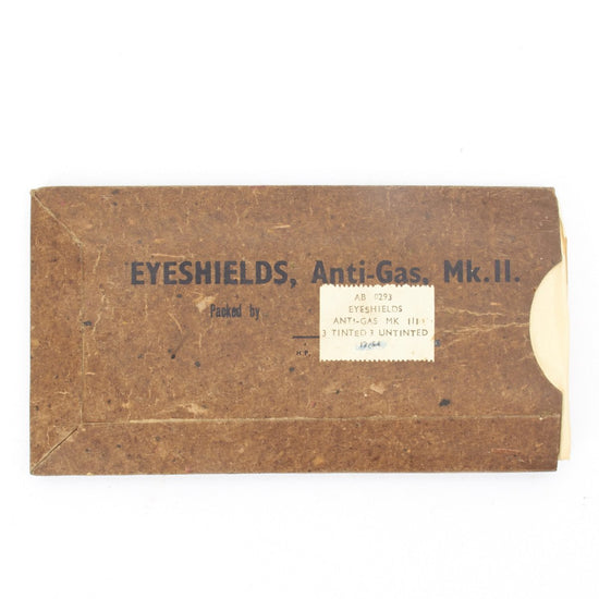 Original British WWII Anti-Gas Eye Shields in Original Packaging Original Items
