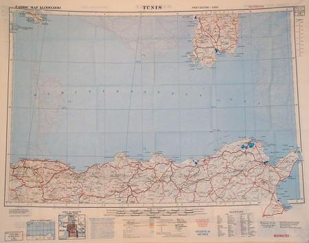 Silk Escape & Evasion Map (WW2 Era): Marseille & Tunis 1943/1952