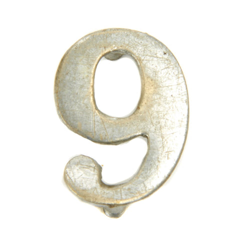 Original British Victorian Era Regimental Number - 9