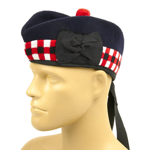 British Glengarry Checker Board Side Cap