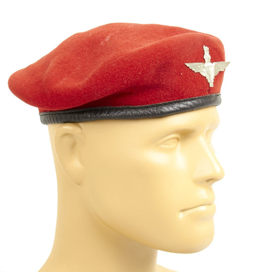 Original British WWII style Parachute Regiment Beret with Wings Badge