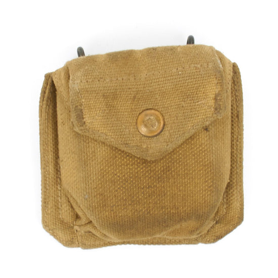 Original British WWII Compass Pouch for use with U.S. Infantry Belt Original Items