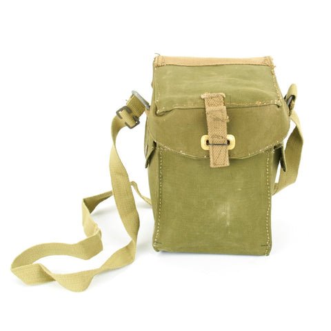 Original British WWII Ammunition Carrier and Gas Mask Bag