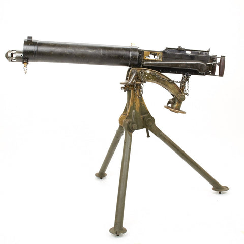 Original British WWII Vickers Display Machine Gun with Tripod