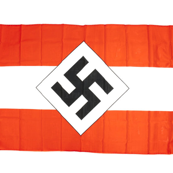 German WWII Hitler Youth Company Flag HJ-Gefolgschaftsfahne 3' x 5'