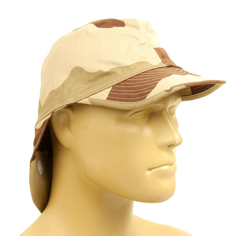 Original French F2 CCE Field Bigeard Cap Desert Camouflage with Swallowtail Neck Flap