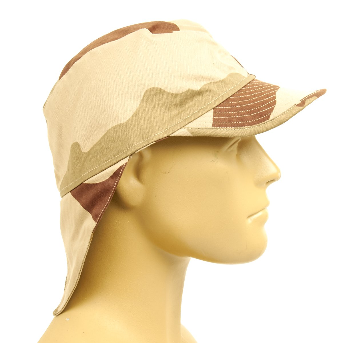 3af77b04c21 Original French F2 CCE Field Bigeard Cap Desert Camouflage with Swallowtail  Neck Flap