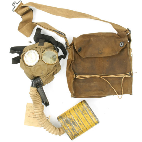 Original U.S. WWI M1917 SBR Gas Mask with Carry Bag