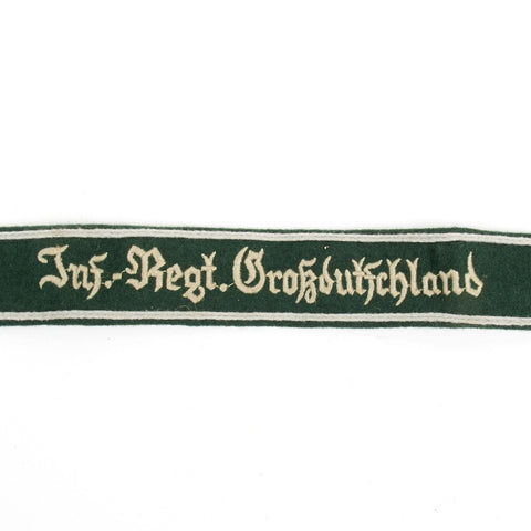 German WWII Military Wool Uniform Cuff Title- Infantry Regiment Großdeutschland
