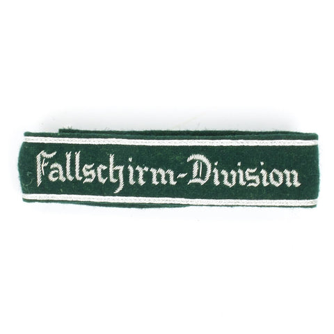 German WWII Military Wool Uniform Cuff Title- Fallschirm Division